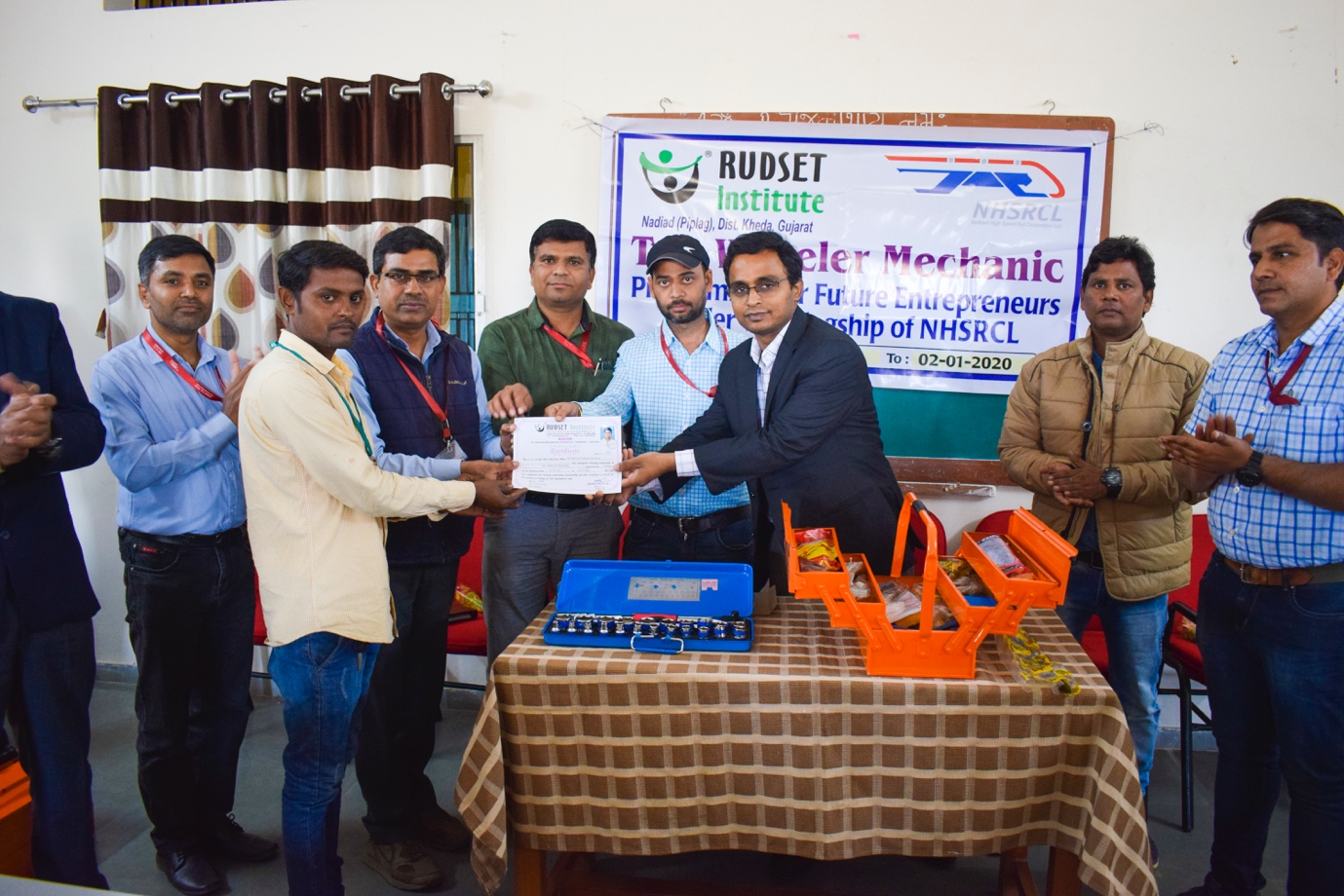 Tool box and certificate distribution ceremony
