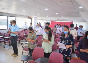 NHSRCL Vadodara office took pledge to Fight Against Covid-19 on 8-Oct-2020